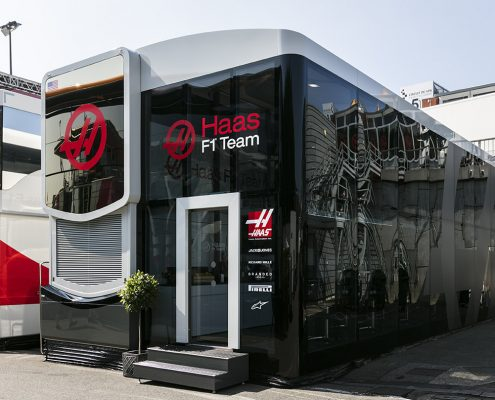 Haas F1 Hospitality - vor Ort