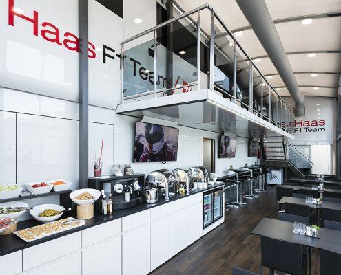 Haas F1 Hospitality - interior view