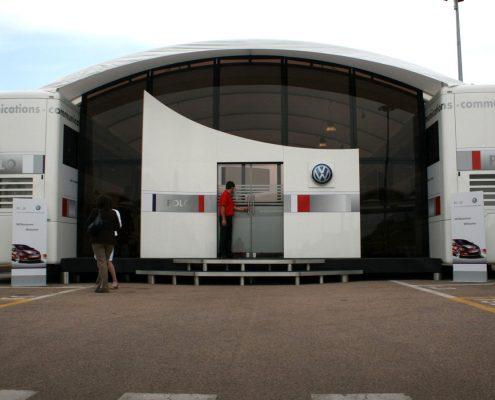 VW Motorsport Hospitality Car Scala outside