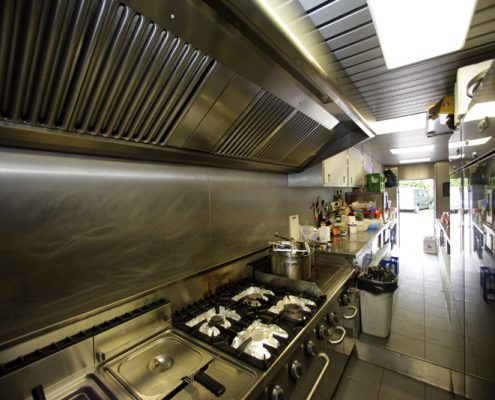 VW Motorsport Hospitality kitchen