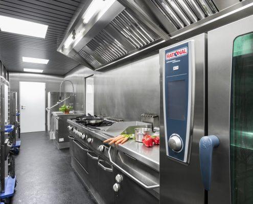 VW Motorsport Hospitality catering kitchen