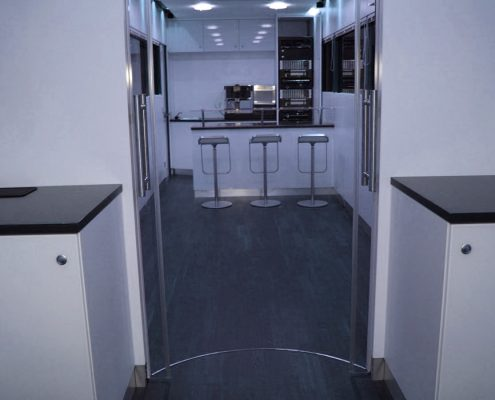 VW Motorsport Hospitality Car Scala inside