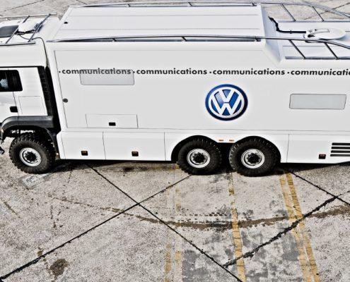 Offroad Wohnmobil VW - Draufsicht