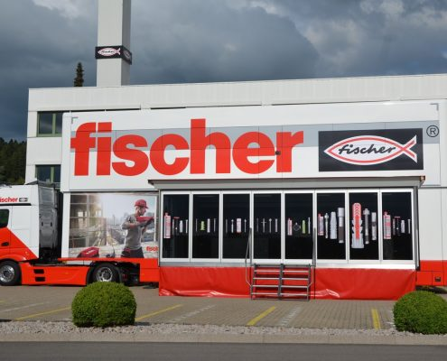 Promotion truck Fischer - Aussenansicht Pop Up