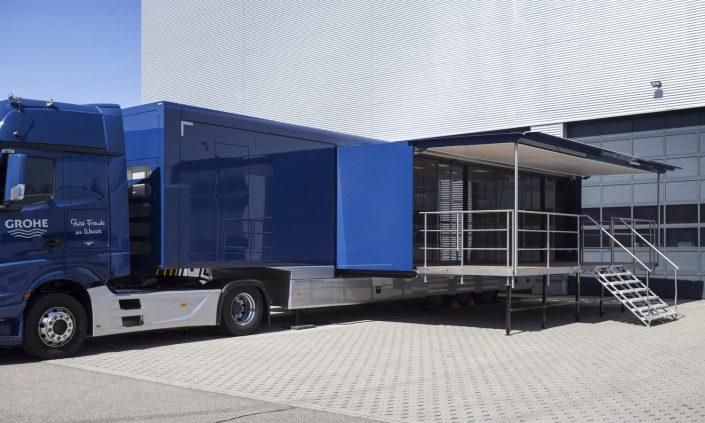 Promotion truck Grohe - Aussenausicht Pop Out