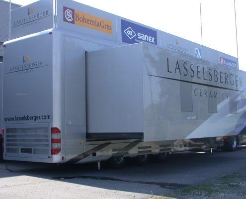 Promotion truck Lasselsberger Pop Out - Aussenansicht