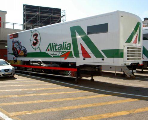 Aprilia Racing Racetrailer