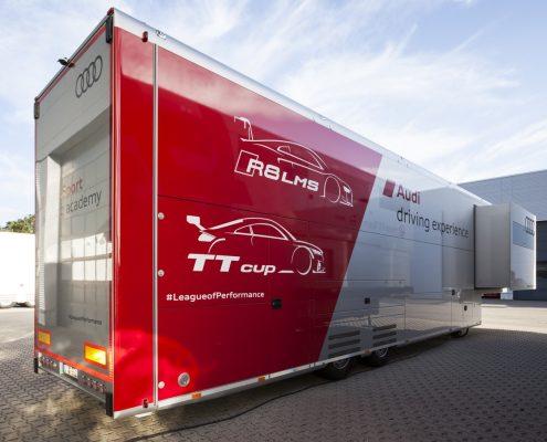 Audi Driving Experience - Racetrailer 1 outside