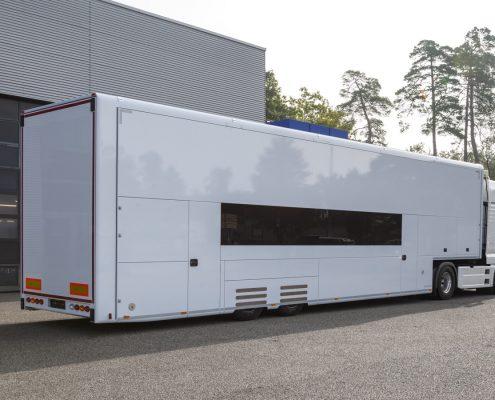 Hilmer Racing Racetrailer hintere Ansicht