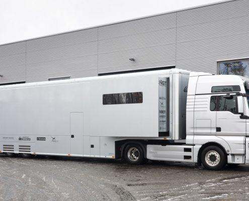 NGT Racetrailer - Aussenansicht