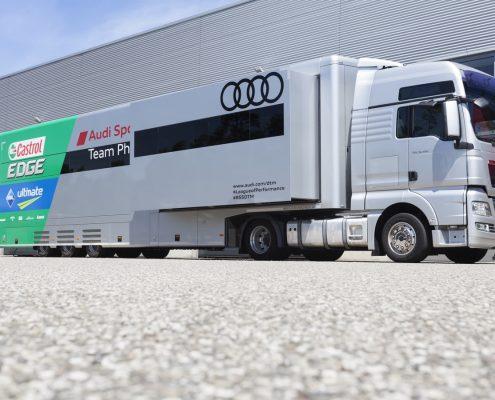 Phoenix Racing - Racetrailer Car Pop Out Flex - Aussenansicht