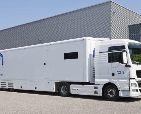 RAM Racing Racetrailer - Außenansicht