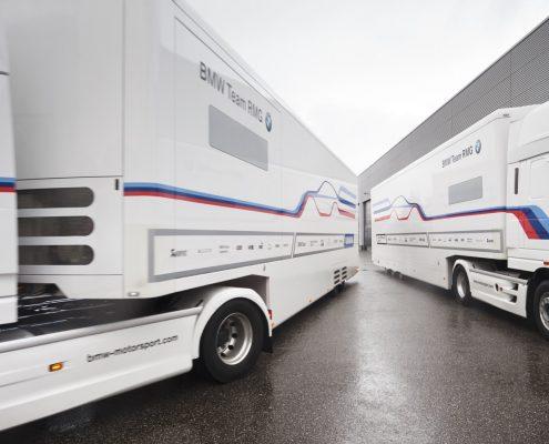Reinhold Motorsport Racetrailer Pop Out - Seitenaussicht