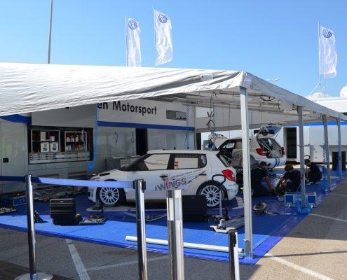 VW Motorsport Racetrailer 2