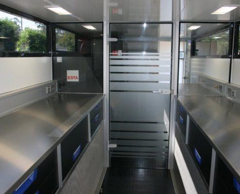 3C Carbon Racetrailer storage