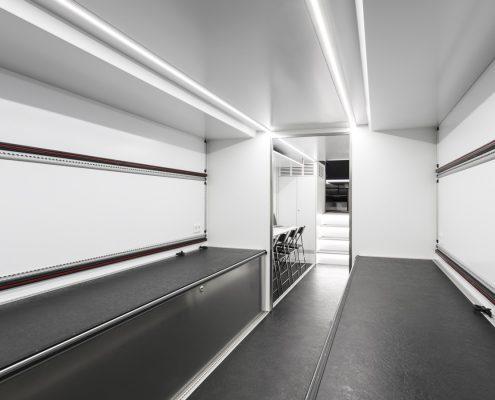 Audi Sport Racetrailer - storage area