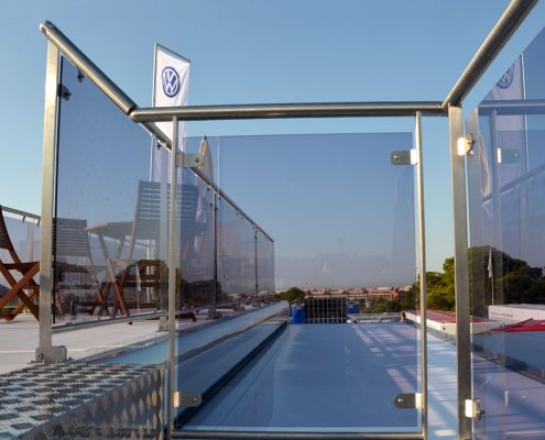 VW Motorsport Racetrailer 3 - Terrasse