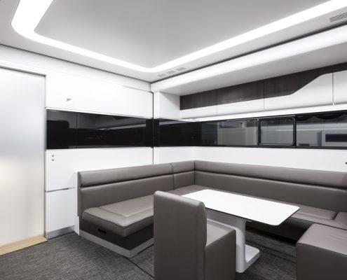 Audi Driving Experience - Racetrailer office area
