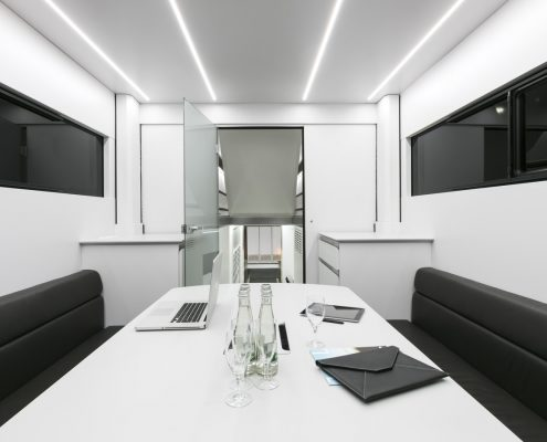 Audi Sport Racetrailer - office area
