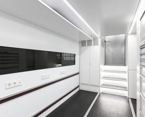 Audi Sport Racetrailer - inside view