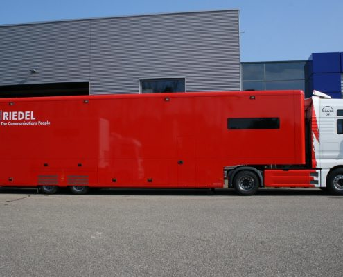 Übertragungswagen Riedel - Seitenansicht