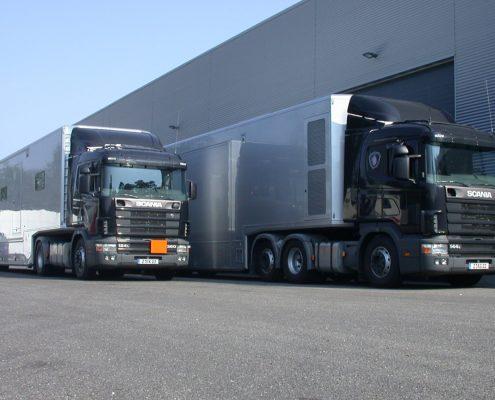 VW Mobiles Abgasmesszentrum - Aussenansicht