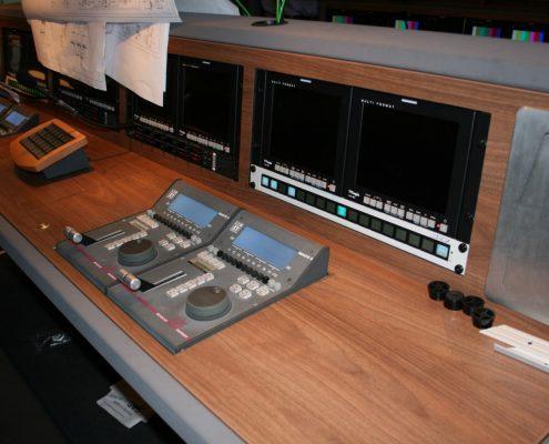 Referenzprojekt SIVision - Übertragungsfahrzeug Innenansicht