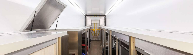 Used Racetrailer inside storage open