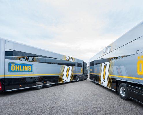 Öhlins Racing AB Racetrailer - exterior view