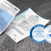 GSI SLV und DVS Zertifikat